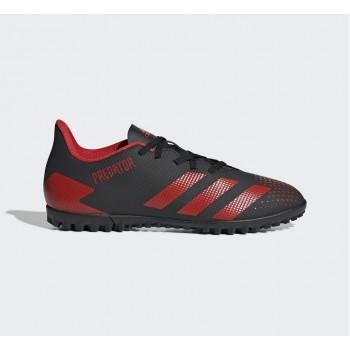 Бампы adidas PREDATOR 20.4 TF CBLACK/ACTRED/CBLACK