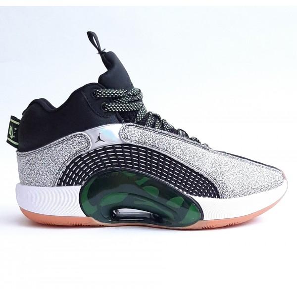 Баскетбольные кроссовки Air Jordan 35 PF DNA GREEN Chile Red Basketball Shoes CQ4368-003   [p.40-p.45]