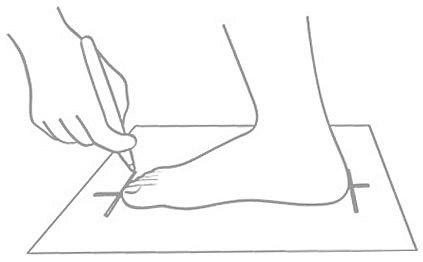 Как мерить размер ноги
